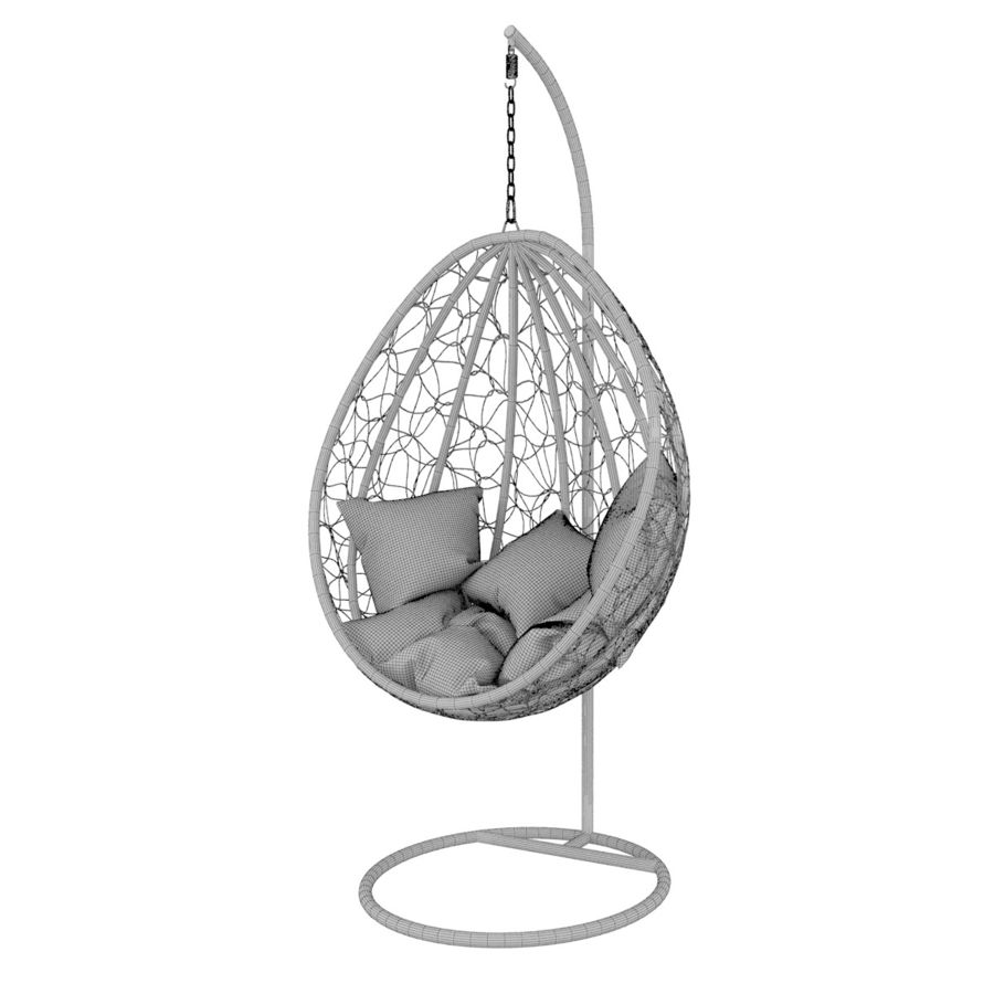 Swing wicker rattan royalty-free 3d model - Preview no. 6