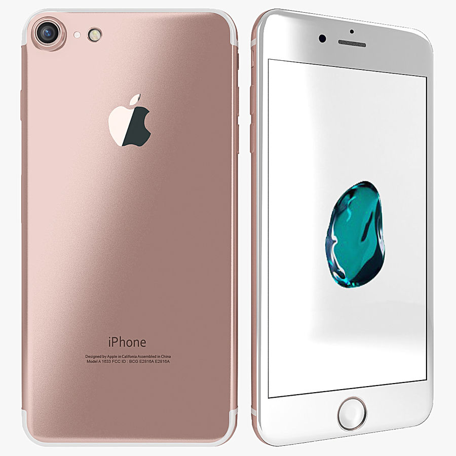 Apple iPhone 7 Gül Altın royalty-free 3d model - Preview no. 1