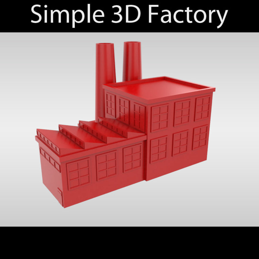 Fábrica Simples royalty-free 3d model - Preview no. 1