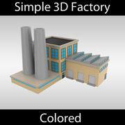 Simple Factory - colored 3d model