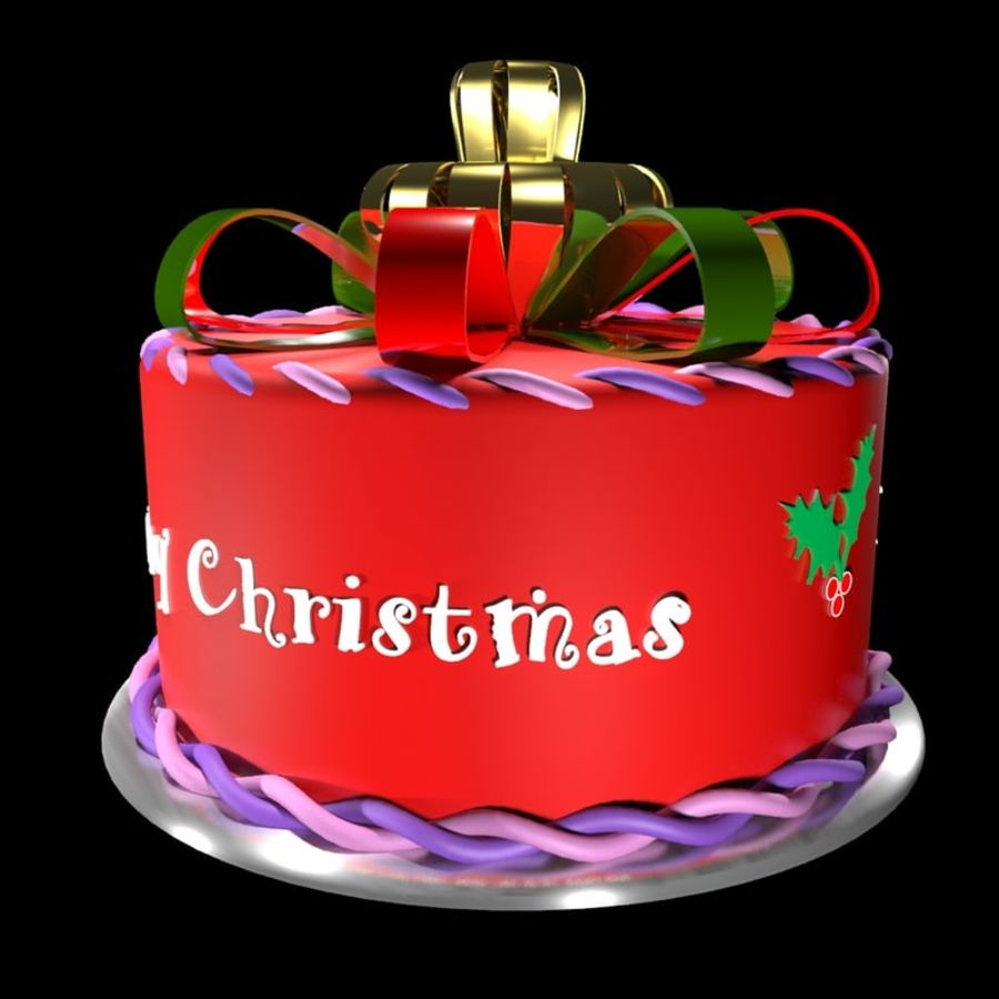 Christmas cake royalty-free 3d model - Preview no. 2
