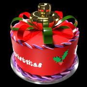 Christmas cake 3d model