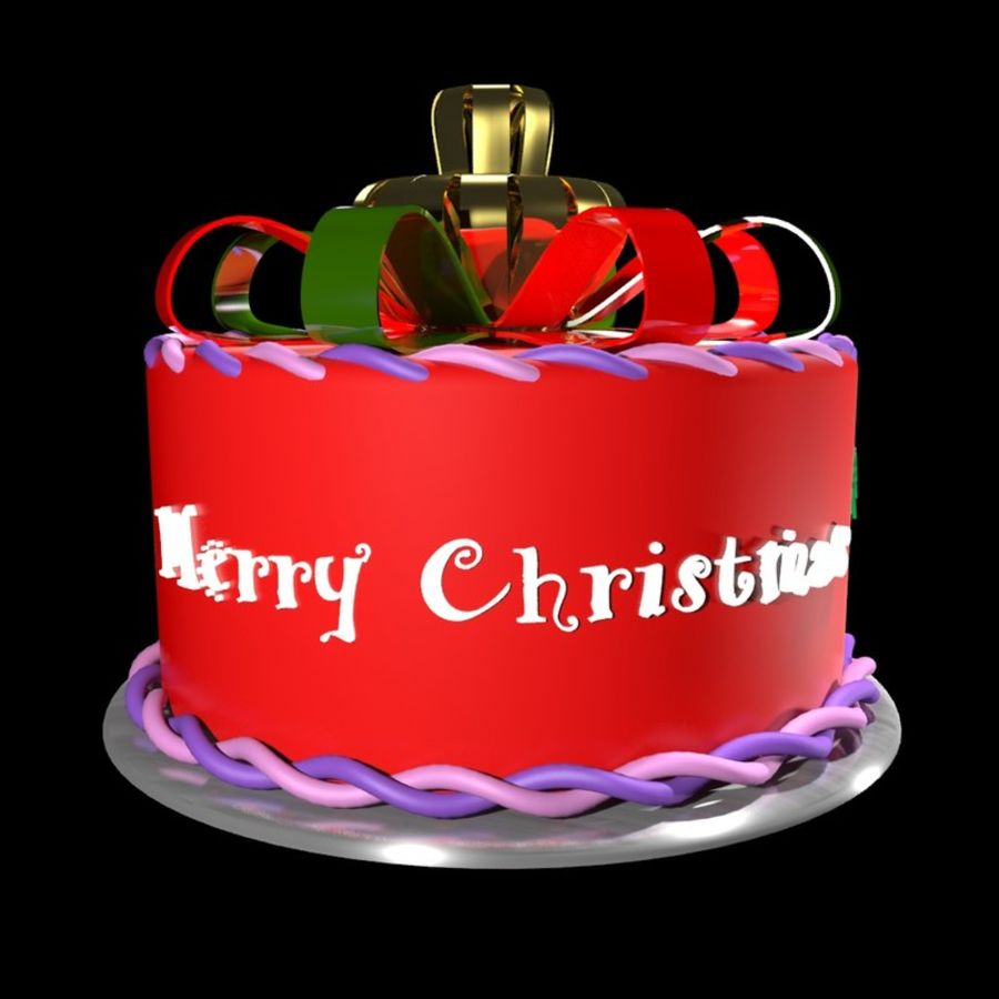 Christmas cake royalty-free 3d model - Preview no. 5