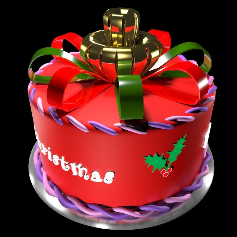 Christmas cake royalty-free 3d model - Preview no. 1