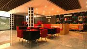 projektowanie wnętrz restauracji fast food 3d model