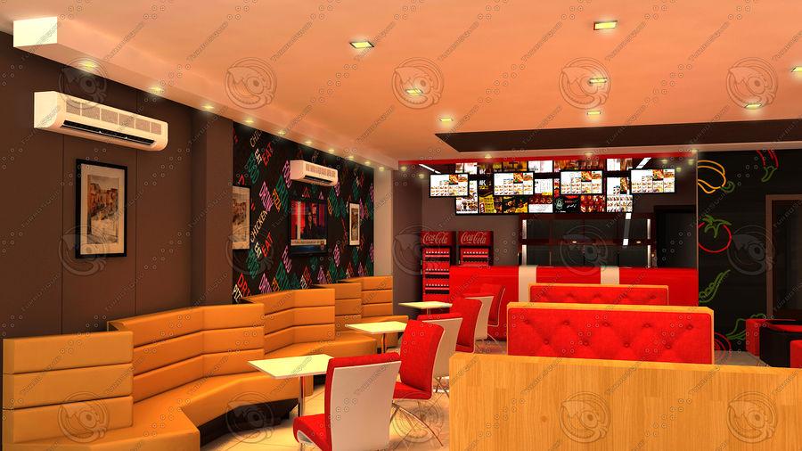Fast Food Restaurant Interior Design 3d Model 25 3ds Max Free3d