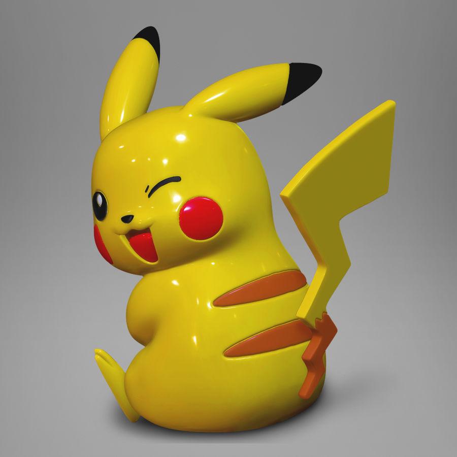 Pikachu do drukowania 3D royalty-free 3d model - Preview no. 1