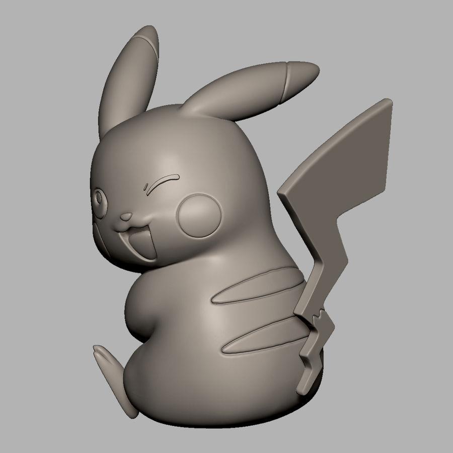 Pikachu do drukowania 3D royalty-free 3d model - Preview no. 2