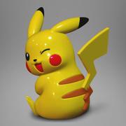 皮卡丘3D打印 3d model