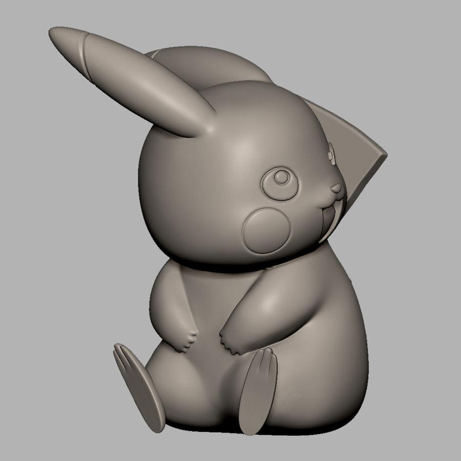 Pikachu do drukowania 3D royalty-free 3d model - Preview no. 6