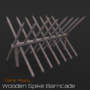 Wooden Spike Barricade 3d model