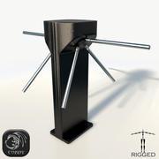 Turnike arma düşük poli 3d model