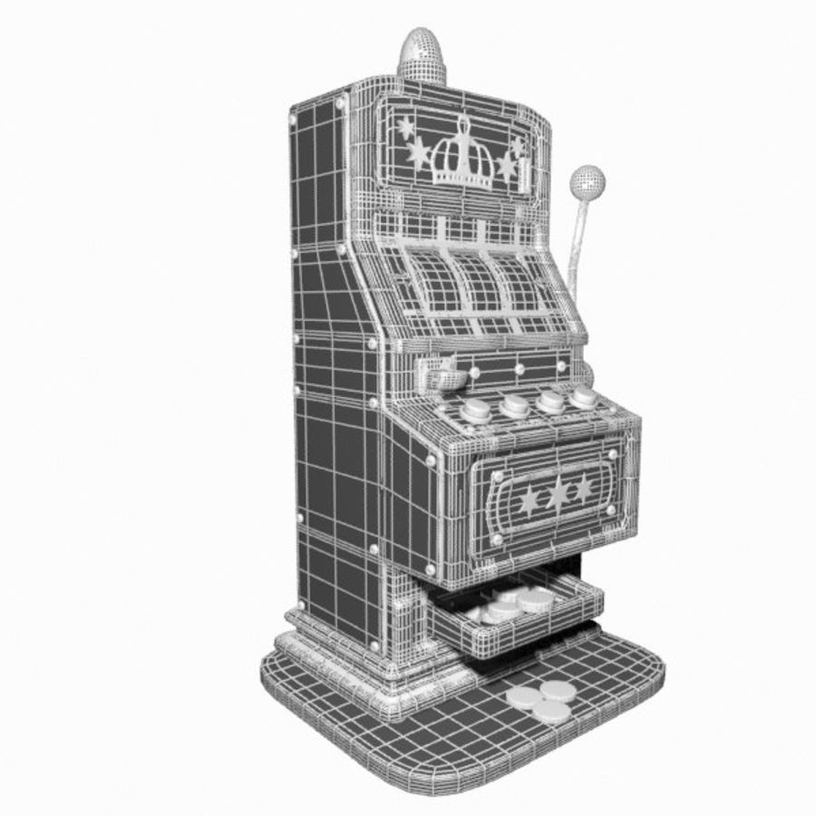 Machine à sous de dessin animé royalty-free 3d model - Preview no. 17