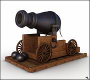 Vessel Cannon Cartoon 3d model