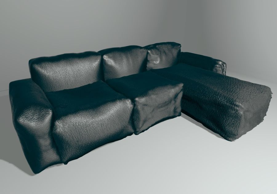 Sofa royalty-free 3d model - Preview no. 4