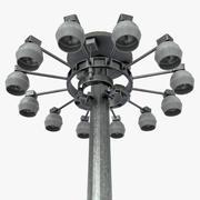 Световой столб высокого мачты 3d model
