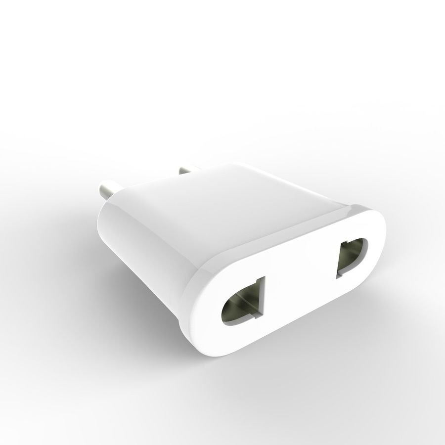 Electrical Power Adapter V3 royalty-free 3d model - Preview no. 6