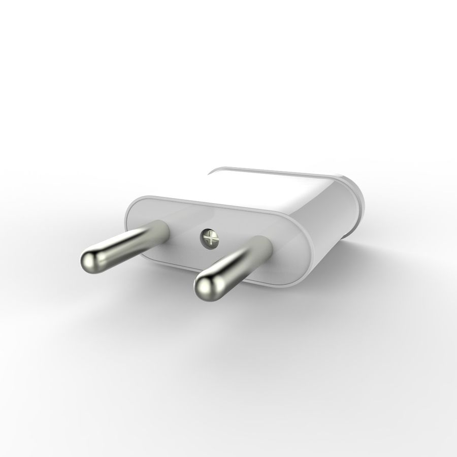 Electrical Power Adapter V3 royalty-free 3d model - Preview no. 4