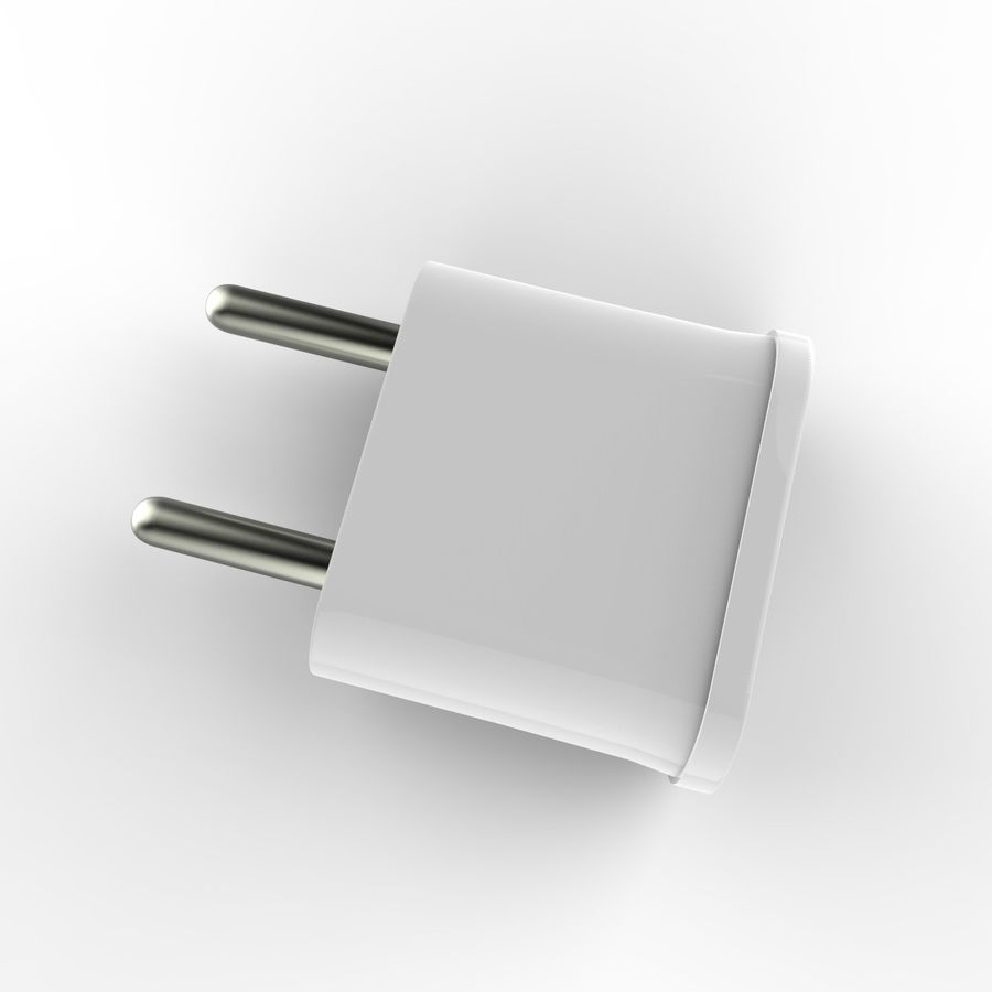 Electrical Power Adapter V3 royalty-free 3d model - Preview no. 5