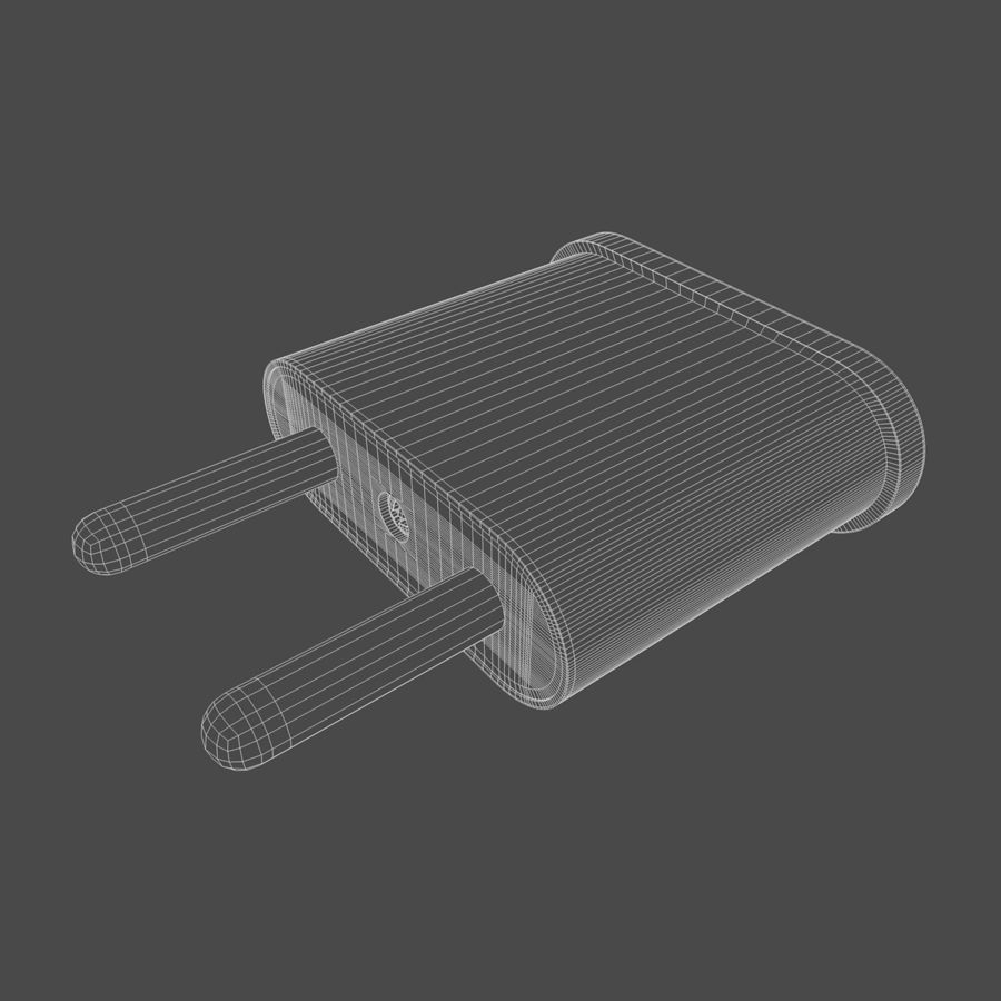 Electrical Power Adapter V3 royalty-free 3d model - Preview no. 8