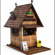 Tourist Information Office 3d model