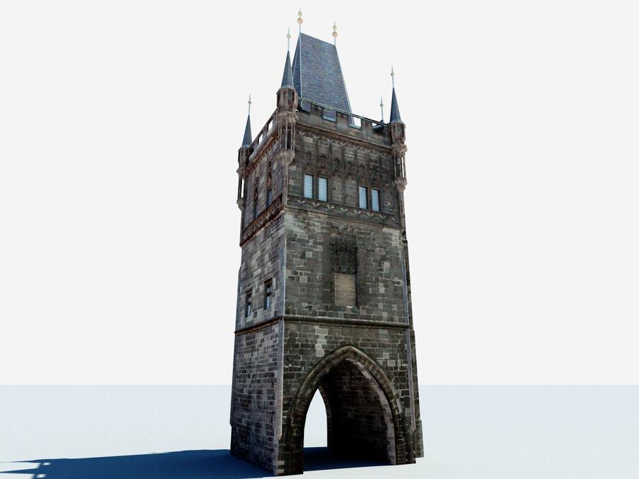Vieux pont de Prague royalty-free 3d model - Preview no. 2