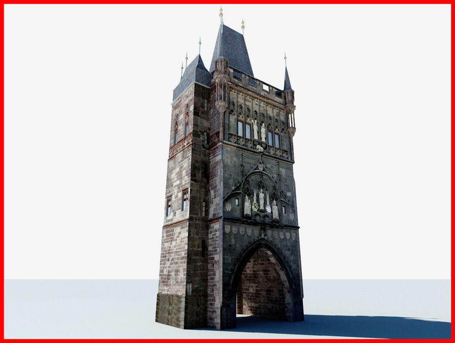 Vieux pont de Prague royalty-free 3d model - Preview no. 1
