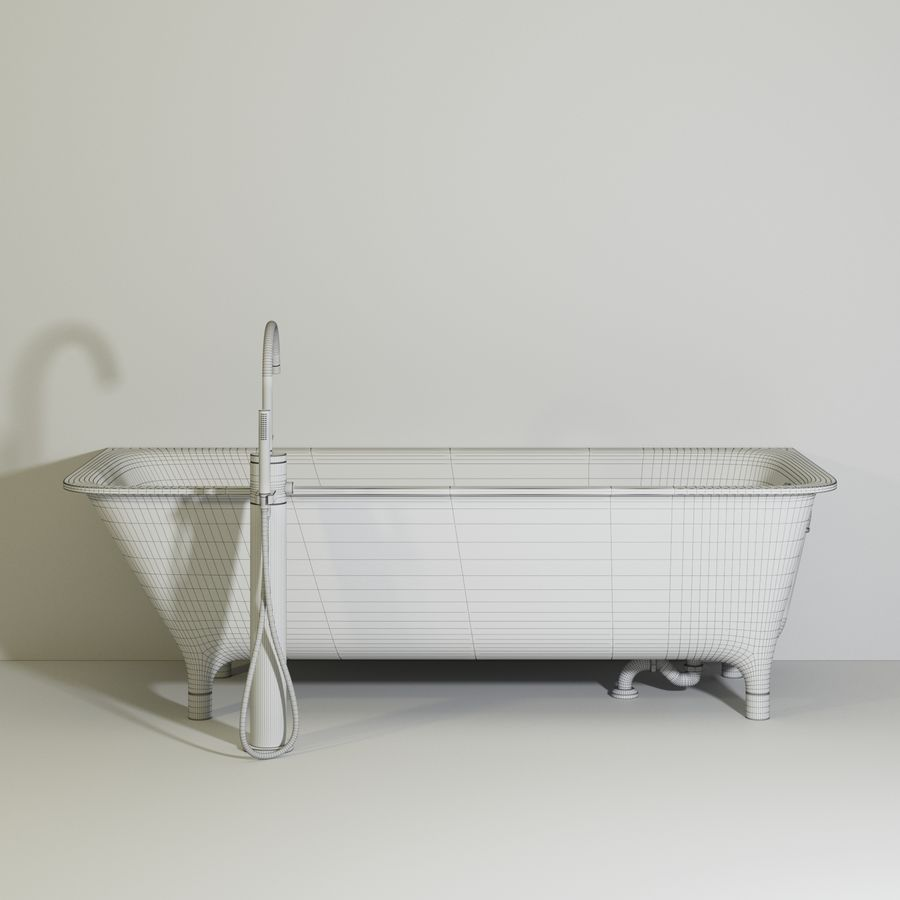 Zucchetti kos MORPHING VASCA royalty-free 3d model - Preview no. 5