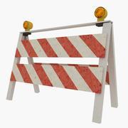 道路工程标志 3d model
