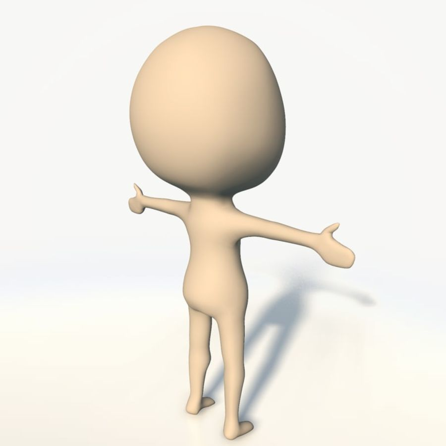 Chibi base character simple royalty-free 3d model - Preview no. 6