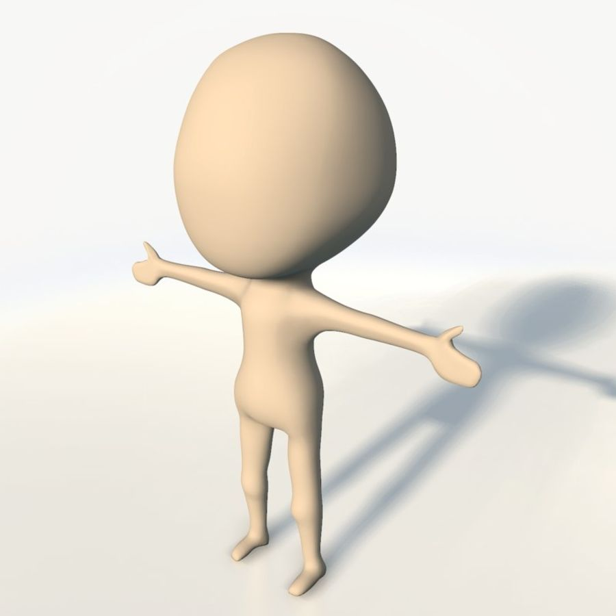 Chibi base character simple royalty-free 3d model - Preview no. 2