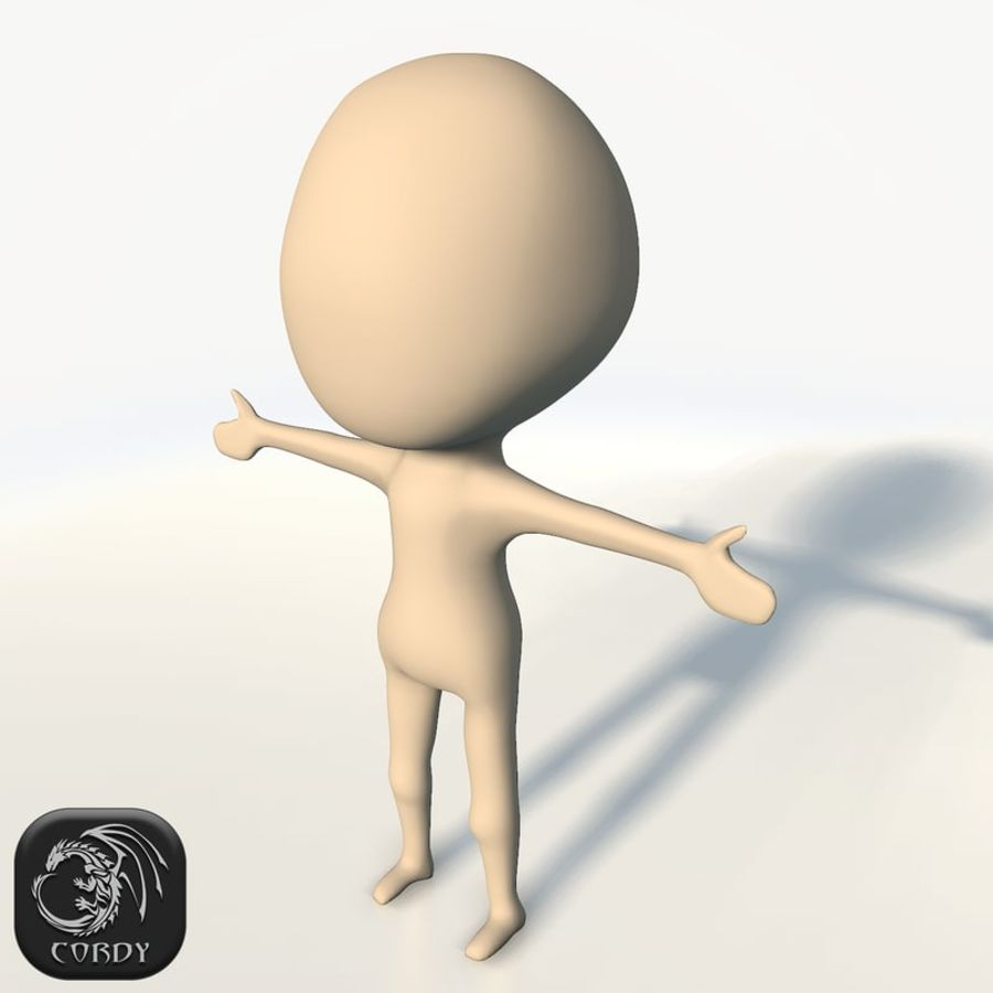 Chibi base character simple royalty-free 3d model - Preview no. 1