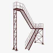 工业楼梯 3d model