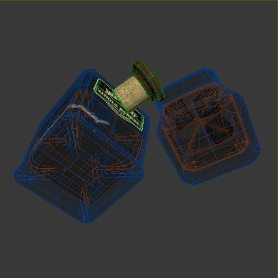 Whisky royalty-free 3d model - Preview no. 8