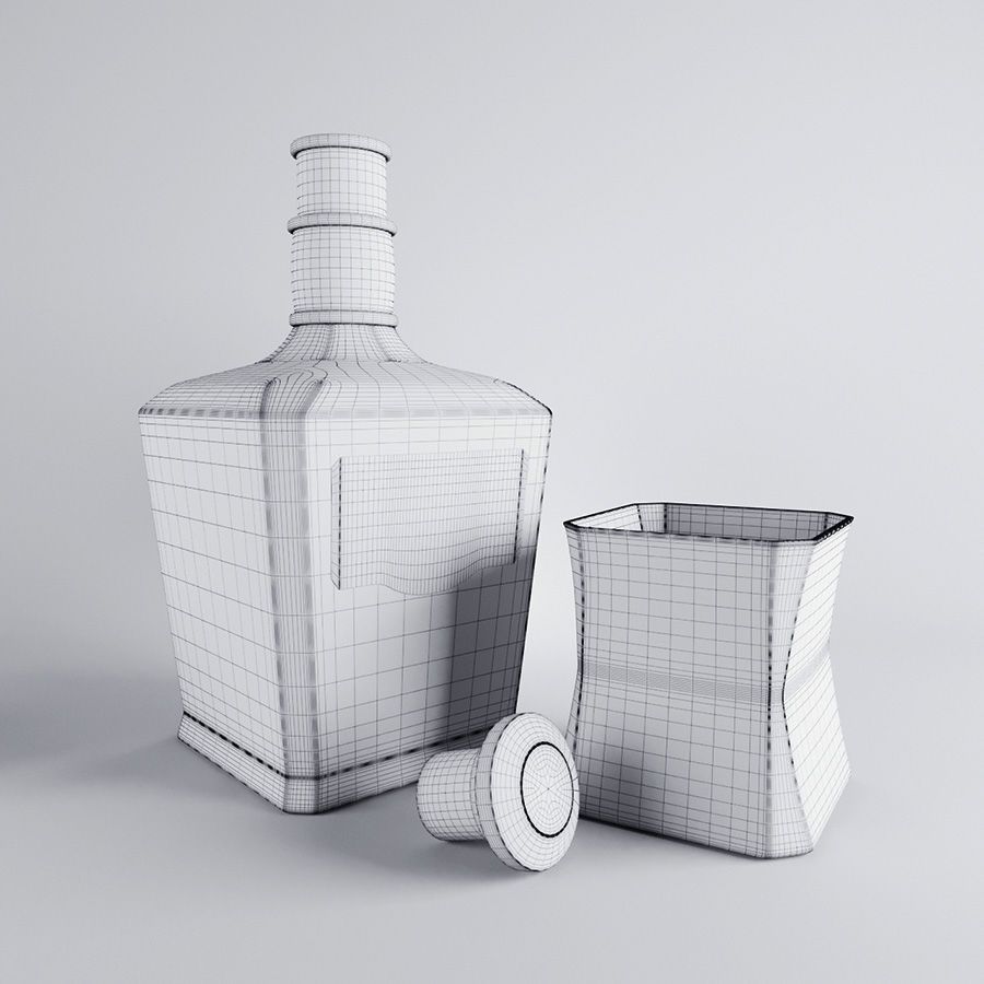 Whisky royalty-free 3d model - Preview no. 5