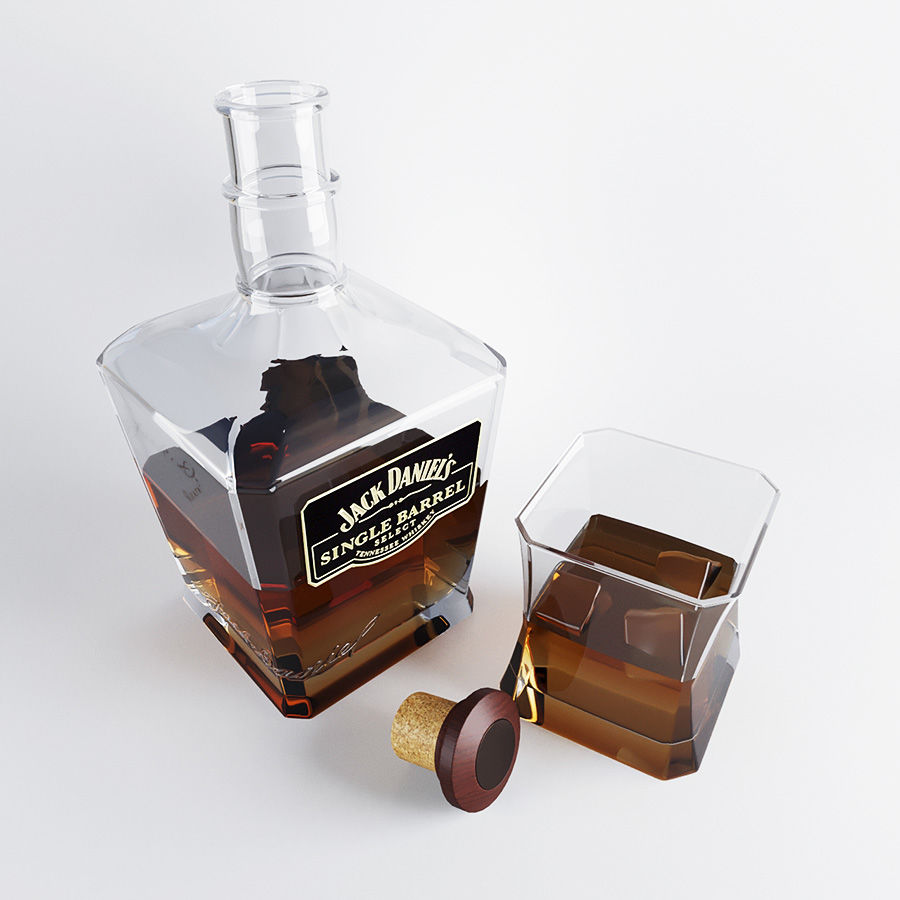 Whisky royalty-free 3d model - Preview no. 2