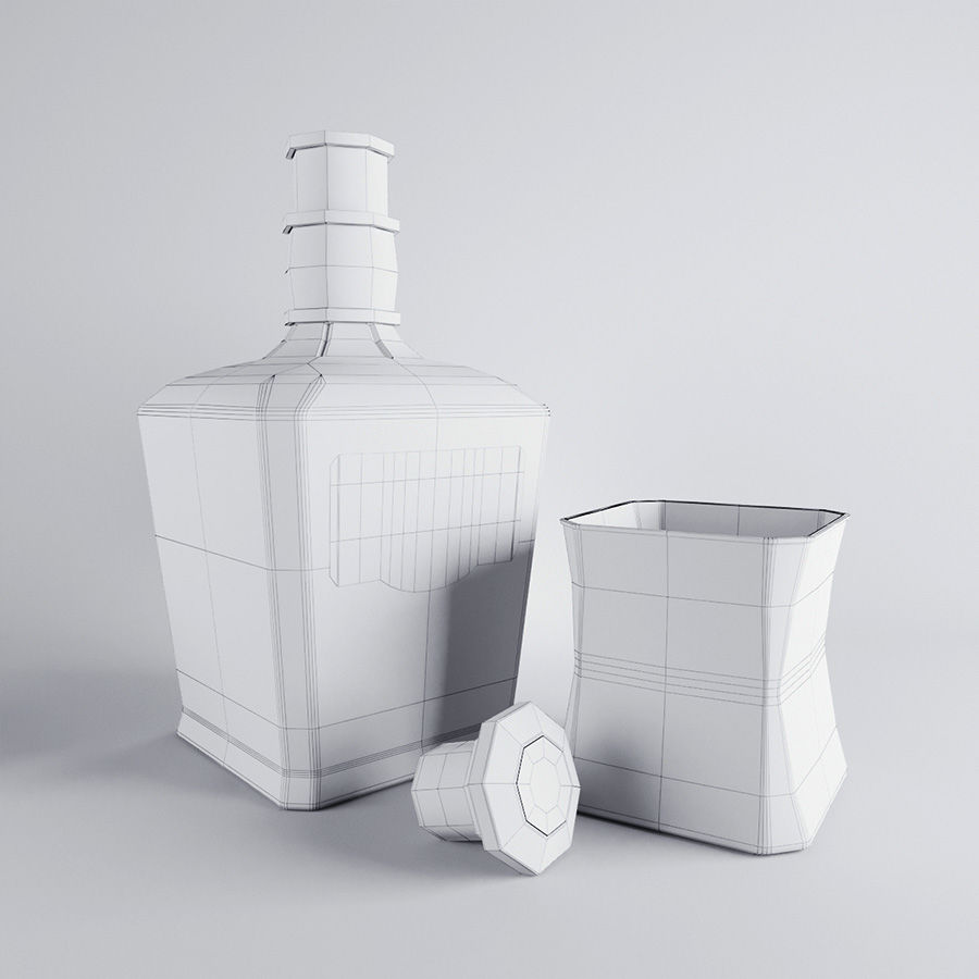 Whisky royalty-free 3d model - Preview no. 3