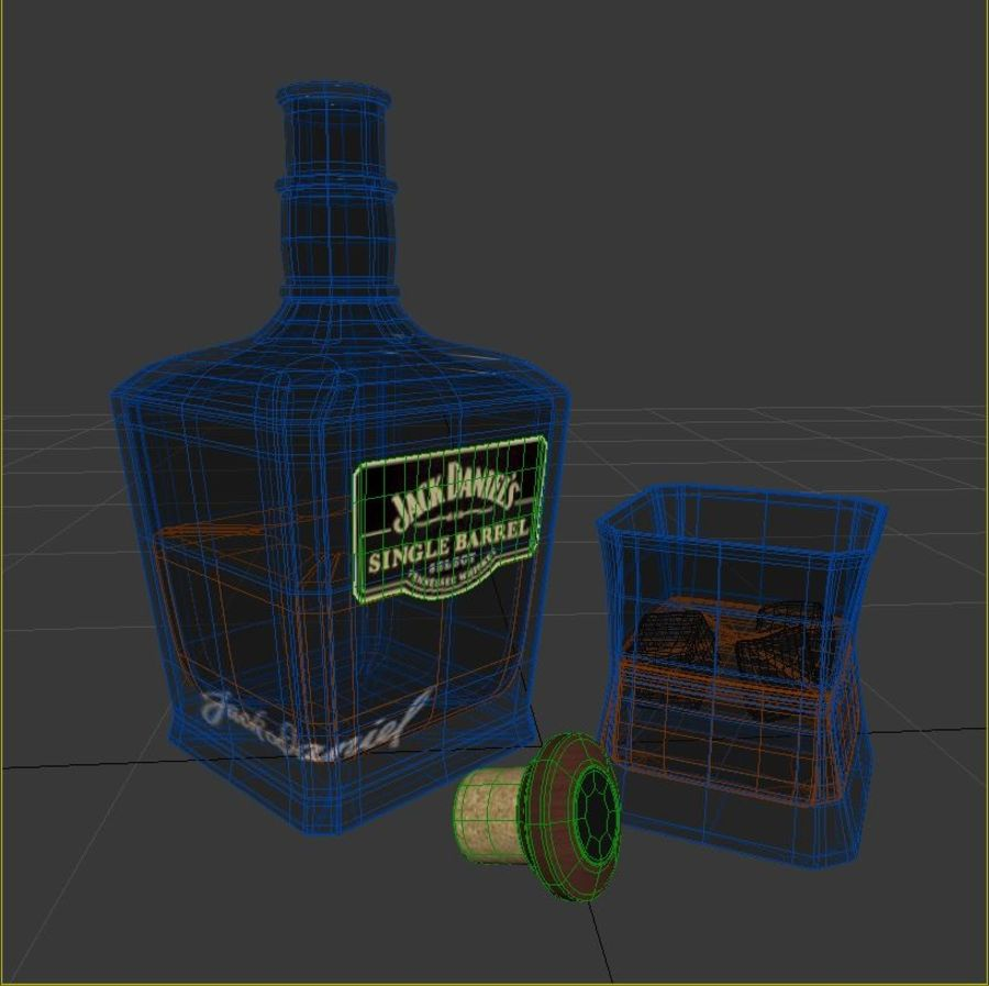 Whisky royalty-free 3d model - Preview no. 6