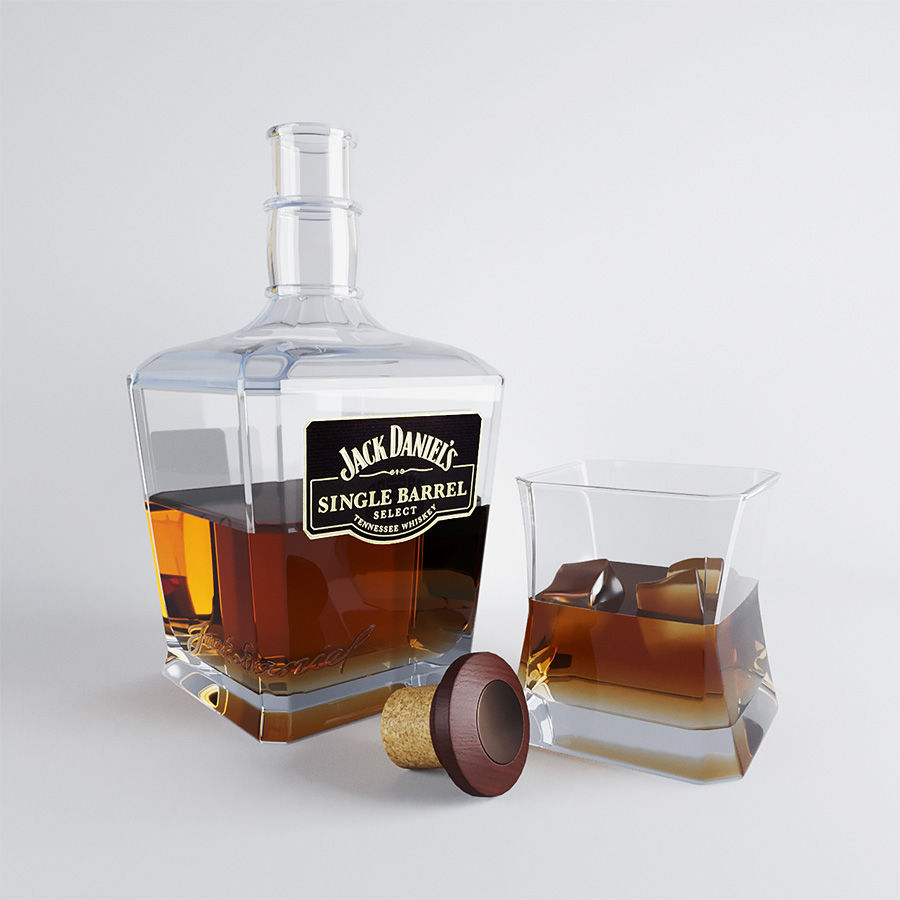 Whisky royalty-free 3d model - Preview no. 1