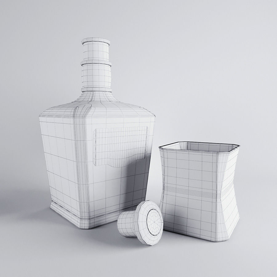 Whisky royalty-free 3d model - Preview no. 4