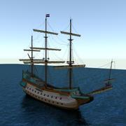voc-schip 3d model