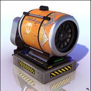 Научно-фантастический вентилятор 3d model