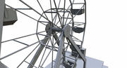 Wheel Carnival Game Ready 3d model