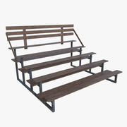 Bleacher three full 3d model