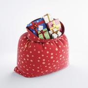 Jultomten väska med gåvor 3d model