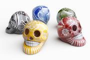Crânes Peints Mexicains 3d model