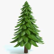 Cartoon Pine Tree 2 3d model