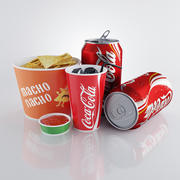 Nachos wich cola 3d model