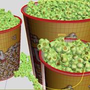 Popcorn cinema set 3d model