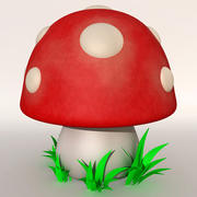 卡通程式化的Mushroonm 3d model